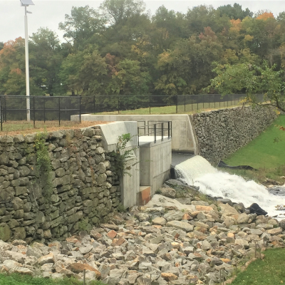 Completed Hovey Dam Spillway