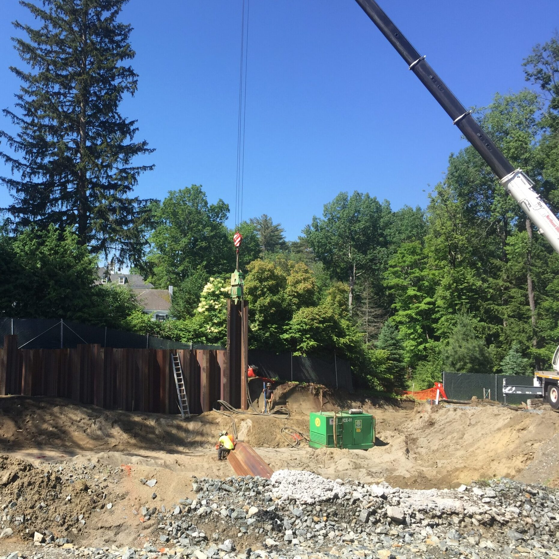 Shoring for a new 12,000 sf home